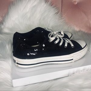 Converse All Star Low Top Black Sequins si…